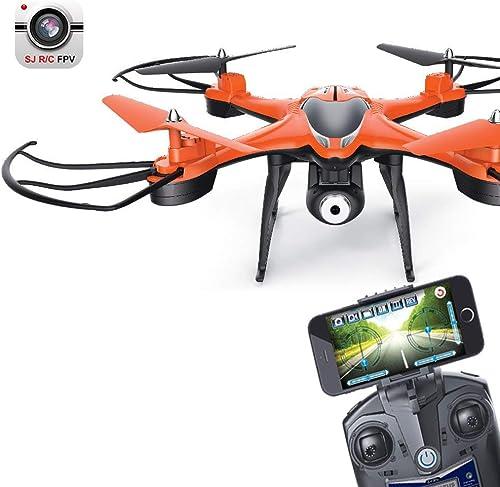 GXFCFF Mini-Drohne mit Kamera, 720P FPV WiFi HD-Kamera Sechs-Achsen-Gyroskop, H  360 ° Flip einen Knopf zurück 2.4Ghz 4CH RC Flugzeug-Orange