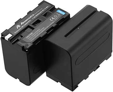 Powerextra 2 Pack Replacement Sony NP-F970 Battery Compatible with Sony DCR-VX2100, DSR-PD150, DSR-PD170, FDR-AX1, HDR-AX2000, HDR-FX1, HDR-FX7, HDR-FX1000, HVL-LBPB, HVR-HD1000U, HVR-V1U, HVR-Z1P