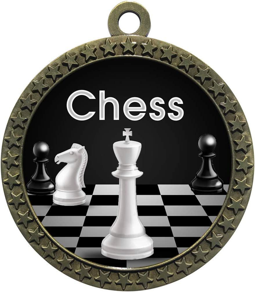 Express Medals 1 to 50 excellence Packs Medal Gold Trophy Chess with Ranking TOP19 Award