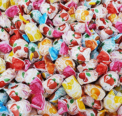 Arcor Assorted Fruit Filled Bon Bon Hard Candy, Individually Wrapped, 2 Lbs