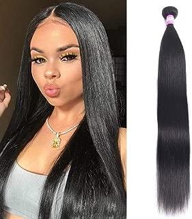 "FQ Peruvian Straight Human Hair 1 Bundles of 30"" Unprocessed Virgin mink 10A Human Hair Bundles Straight Human Hair Extensions Weave Bundles 100g Natural Black Color"
