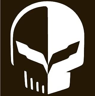 Xprovinyl Stingray Corvette Jake Racing Skull Vinyl Sticker Decal (2.4