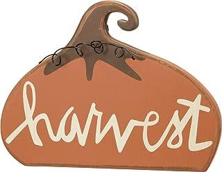 Primitives by Kathy Chunky Shelf Sitter, 8.5 x 6.25-Inch, Harvest Pumpkin