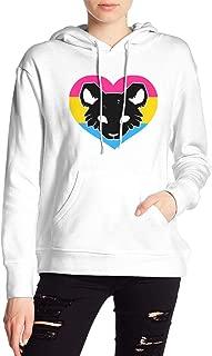 VJJ AIDEAR PAN-CAT Women's Sweater Printed Hoodied Long Sleeve Coat