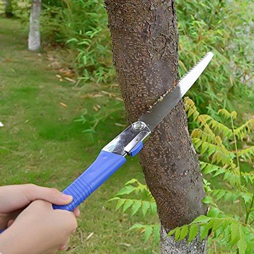XiaoOu Scie Pliante de Jardin de scie à métaux Pliable en Acier pour Le Travail du Bois Serra Outil de Jardinage ménage Anti-Saut Outil de sciage à la Main en Acier