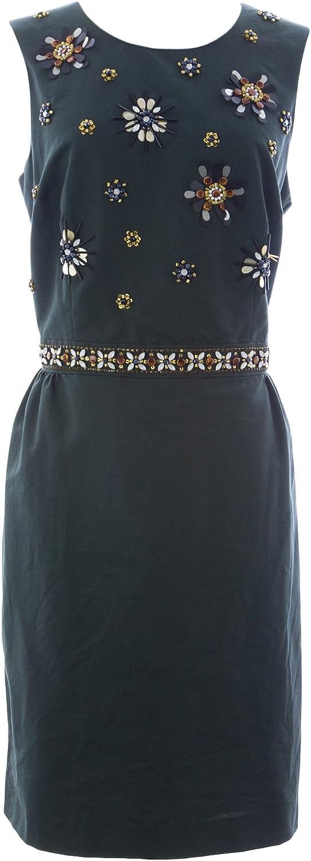 BODEN Women's Embellished Dress US Sz 10R Brunswick Green