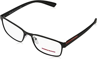 Linea Rossa Men's PS 50GV Eyeglasses Black Rubber 55mm