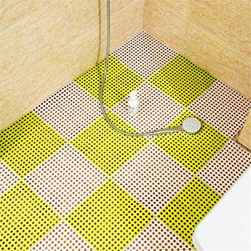 QD-SGMP お風呂マット 滑り止め バスマット 防カビ 浴室マット すのこ 洗い場マット 浴槽マット 大判 転倒防止 介護用 16枚(ホウイト+グリーン)
