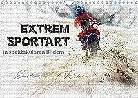 Extremsportart (Wandkalender 2022 DIN A4 quer): Motocross in spektakulaeren Bildern. (Monatskalender, 14 Seiten )