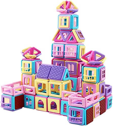 Enfants aihommet jouets aihommet de construction tuiles 3D blocs de construction magnétiques Set jouets éducatifs pour enfants DIY,62pcs