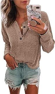 v neck henley sweater