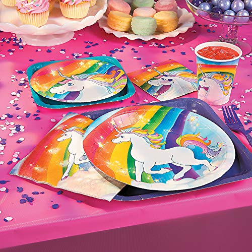 Unicorn Dessert Plates - 7in (8 Pack) - Party Supplies
