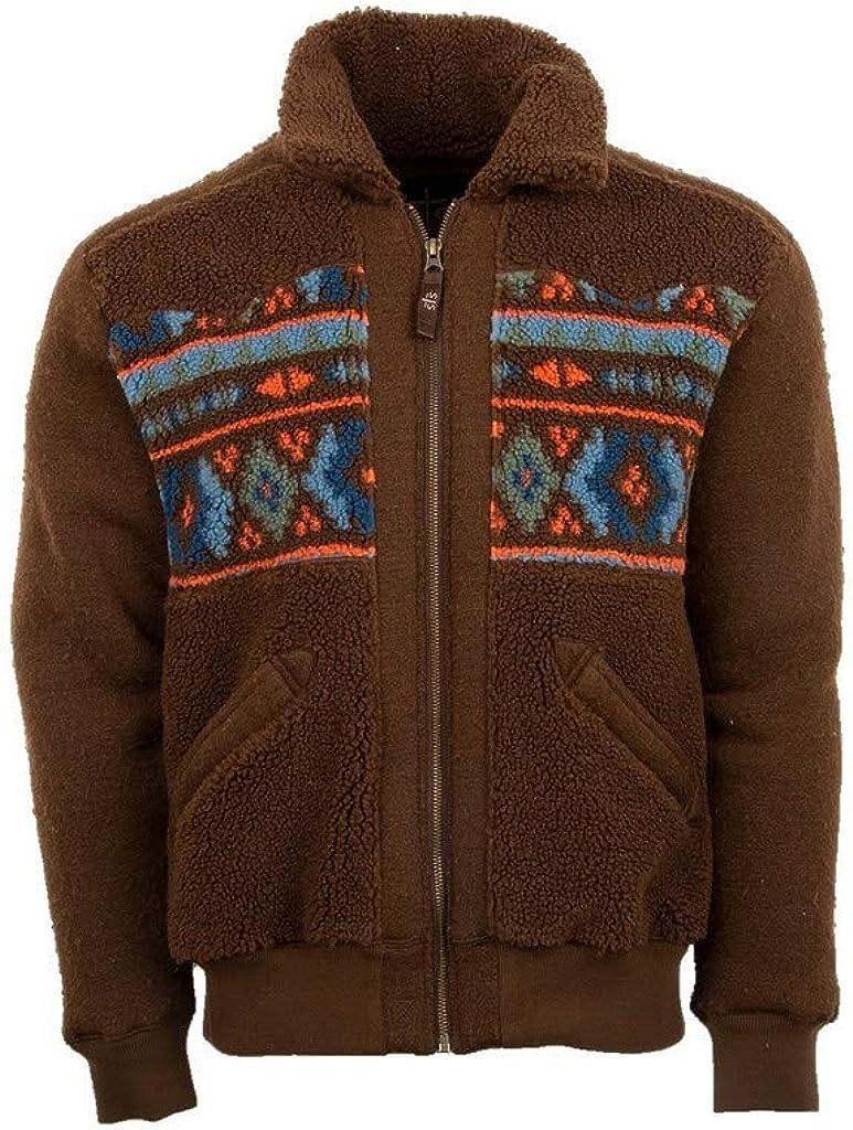 StS Ranchwear Western Jacket Mens Tristan Zip Chocolate Aztec STS2345