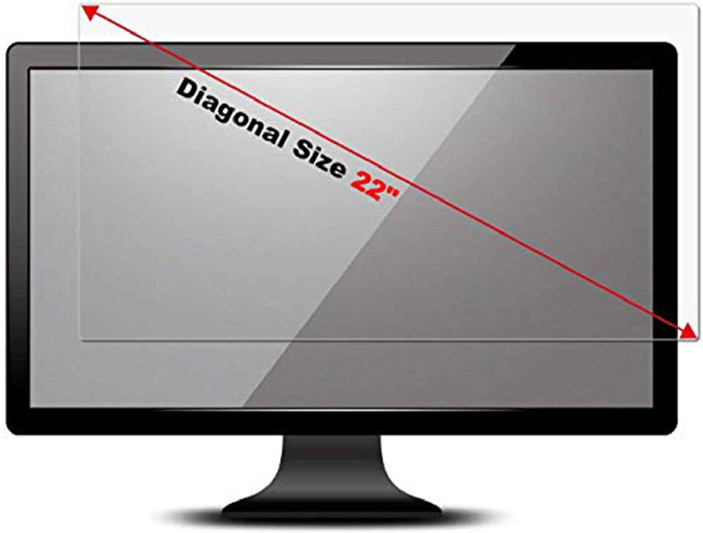22 Inch Anti Glare Monitor Screen Protector Computer Widescreen Desktop with 16:10 Aspect Ratio Compatible with 22