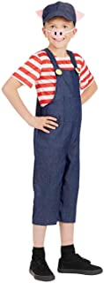 Fun Shack Kids 3 Little Pigs Costume Childrens Nursery Rhyme Outfit - X-Large FNK4256XL-US