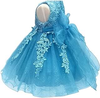 Baby Girl's Lace Gauze Christening Baptism Wedding Dress with Petticoat