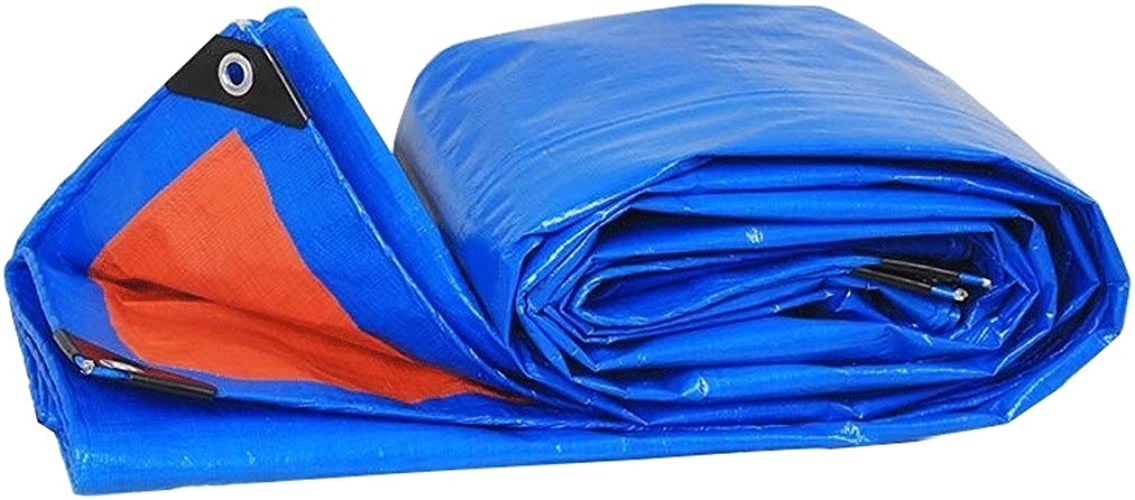 Duanguoyan Bache- Prougeection extérieure imperméable de bache de Prougeection Solaire de Tissu imperméable de Cargaison (Couleur   bleu, Taille   4X8m)