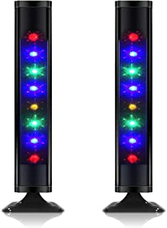 TV Gaming Bluetooth Speakers, Raster Light Dancing Speakers Twin Tower Speakers,Floor Standing Loudspeaker Home Audio with Colors LED Lights Package of Pair