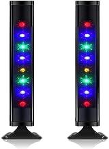 TV Gaming Bluetooth Speakers, Raster Light Dancing Speakers Twin Tower Speakers,Floor Standing Loudspeaker Home Audio with Colors LED Lights Package of Pair
