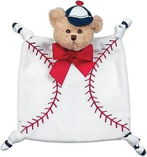 Bearington Baby Wee Lil' Slugger, Small Baseball Stuffed Animal Lovey Security Blanket, 8