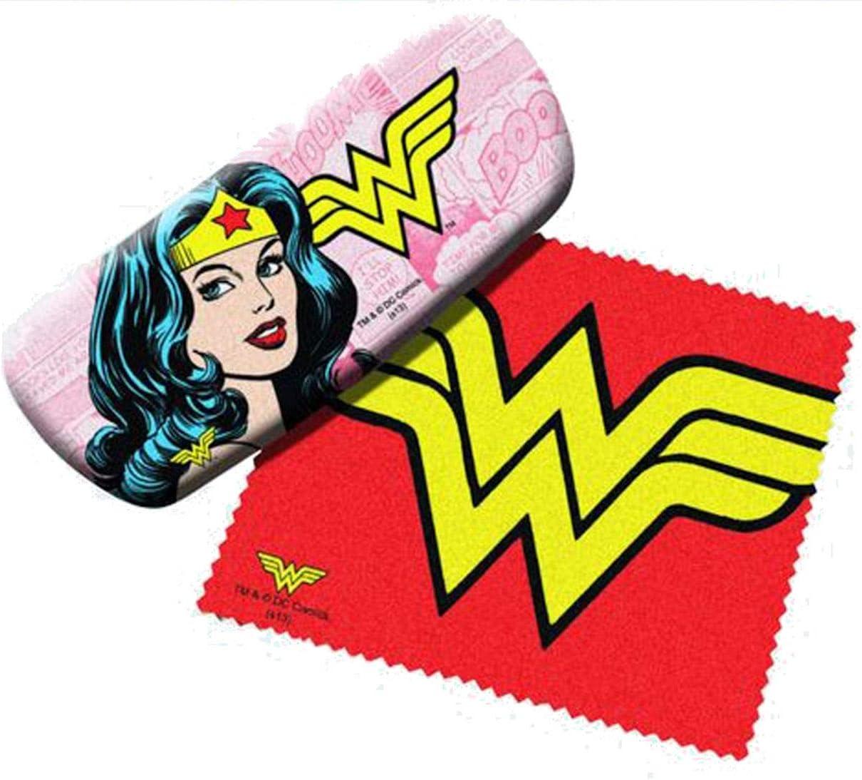 SPO DC Comics Wonder Women Eyeglass Case with Lens Cloth