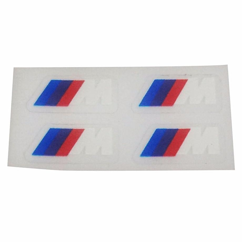 ESC EDP529FBA 4 Pieces Fashion Stall Paste M logo Interior Stickers Gear Head M Stickers for BMW X1 X3 X5 X6 E34 E36 E6 730 740 750 760 523 525 M1 M3 M5