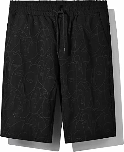 OME&QIUMEI impression and Waist Trousers Microelastic Décontracté and Loose courtes Hommes's Five - Point Pants Young plage Pants Sports Pants