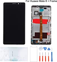 Kosuroum Screen Replacement Compatible for Huawei Mate 8 mate8 NXT-L09 NXT-L29 NXT-AL10 NXT-CL00 NXT-DL00 NXT-TL00 LCD Glass + Frame Display Touch Digitizer Assembly Tools (Black)