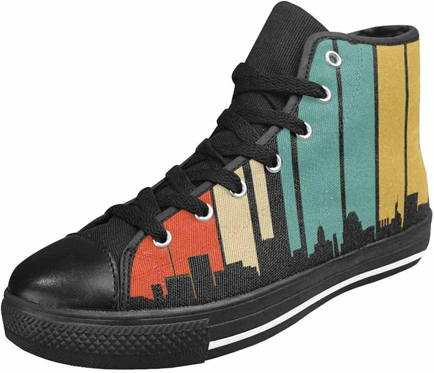 Qchengshix Women's Low Top Classic Canvas Fashion Sneaker Basketball Tennis Athletic shoesRetro Baltimore MD Skyline
