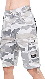 Mens Knee Length Combat Cargo Chino Cotton Shorts By Crosshatch