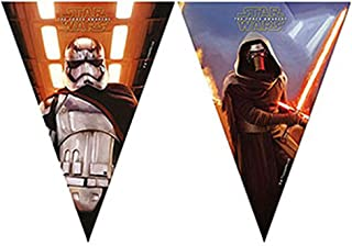 Procos Triangle Flag Banner Star Wars The Force Awakens 1 Pieces - 86222, Multicolor, For Kids
