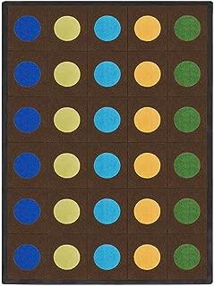 Joy Carpets Kid Essentials Early Childhood Lots of Dots Rug, Earthtone, 7'8