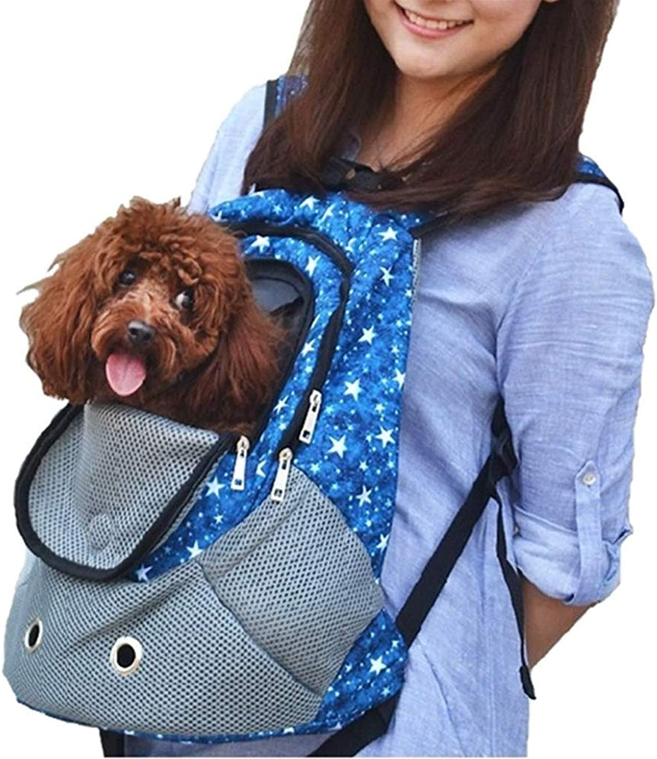 Pet Carrier Bag Travel Backpack Transport Bag Outdoor Breathable mesh Window Foldable for Small Dogs Cats Puppy
