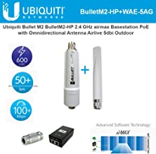 Bullet M2 BulletM2-HP 2.4 GHz Airmax Basestation with PoE and Omnidirectional Antenna Airlive 5dbi Outdoor