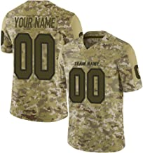 Custom Football Jerseys Design Your Own Camo Style Mesh with Name and Number for Men/Women/Youth S-5XL