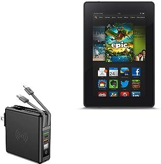 Carregador BoxWave para Kindle Fire (1ª geração 2011), [Carregador de parede sem fio Rejuva (10.000mAh)] Carregador de par...