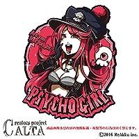 CALTA-ステッカー-PSYCHO GIRL (1.Sサイズ)
