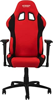 GT OMEGA PRO Racing Fabric Gaming Chair with Lumbar Support - Breathable & Ergonomic Office Chair with 4D Adjustable Armrest & Recliner - Esport Seat for Ultimate Gaming Experience - Red Next Black