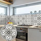 Vinilos Pared Cocina Mandala Gris Claro Vinilo Adhesivo Cenefas Adhesivas Baño Cocina Azulejos Decorativos Adhesivos Ba?o DIY Mueble10P, 10cm x 10cm
