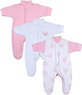 Babyprem Frühchen Baby Mädchen Kleidung Packung mit 3 Schlafanzüge Strampler