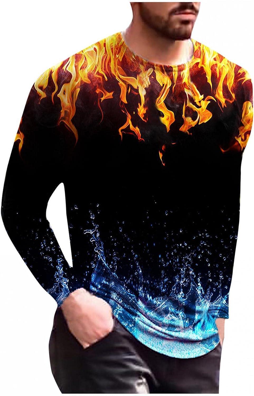Aayomet Mens Shirts Pullover Colorful Pattern Sweatshirts Casual Comfy Slim Fit Long Sleeve Fashion Sweatshirts