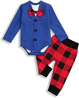 Baby Boys Gentleman Outfits Newborn Infant Long Sleeve Cardigan+Bow tie Romper Bodysuit+Pant 3PCs Set