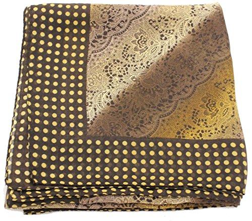 Deresina Headwear Deresina Headwear Frauenalltags Weiche Quadratisch Kopftücher (1mx1m) (102 Black Camel Garden Floral)