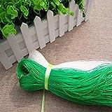 PflanzennetzStütznetzGartennetzKlettergerüstNylon-GitterNetzRanknetzfürGurkenUnterstützungfürKletterpflanzen,RebeundVeggieSpalierNetz, 1.5x100m, weiß und grün