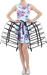 DUNHAO COS Women's Double Victorian Pannier Bustle Cage Underskirt