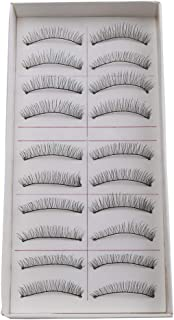 Electomania® False Eyelashes,Handmade Natural Regular Long Soft Fake Eye Lashes Extension for Makeup Cosmetic (10 Pairs)
