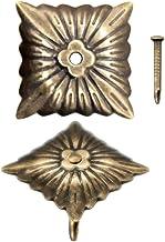 FUXXER® - 100 x antieke decoratieve nagels, sierkopnagels, meubelnagels, vintage messing brons antieke look, 20 x 20 mm, 1...