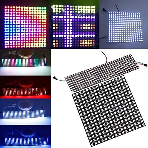 HLJ 8 * 32cm 16 * 16cm WS2812B 256 Pixels Digital 5050 RGB Dream Color Programmed LED Module Strip DC5V (Color :. (Color : Type B)