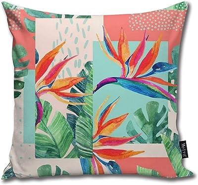 Amazon.com: iZHH Home Pillow Case BButterfly Painting Linen ...