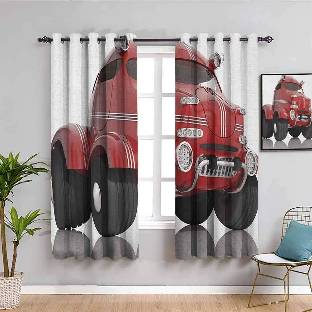 Cars Black Out Curtain Panels for Curtains 45 Leng famous Bedroom Quality inspection inch